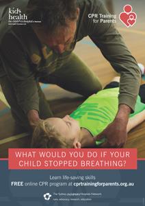 CPR for Children Training Poster